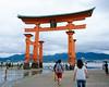 大鳥居を見上げる / Looking up O-torii