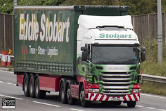 Scania R440 6x2 Tractor - PN12 XUL - Gracie Rose - Green & Red - Eddie Stobart - M1 J10 Luton - Steven Gray - IMG_5961