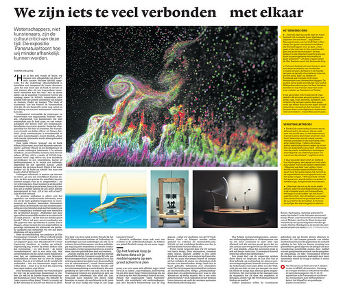 NRC Dutch Newspaper piece by Tamar Stelling in Transnatural