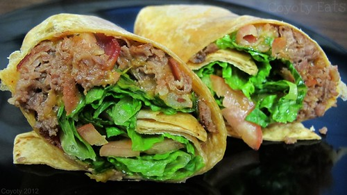 Bacon cheddar cheesesteak wrap by Coyoty