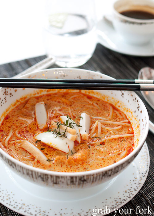 singapore laksa at sky on 57 by justin quek at marina bay sands singapore