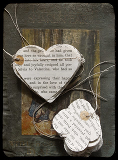 book heart garlands