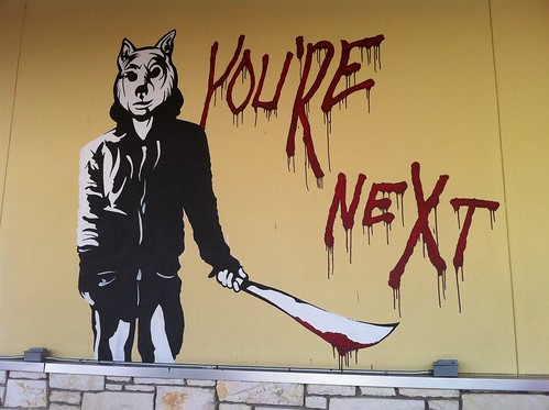 You're Next artwork at the Alamo Drafthouse
