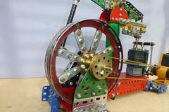 """Airfix"" Meccano beam engine model belt drive"