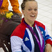 Ellie Simmonds wears her medal with pride, London 2012 Paralympic Swimming