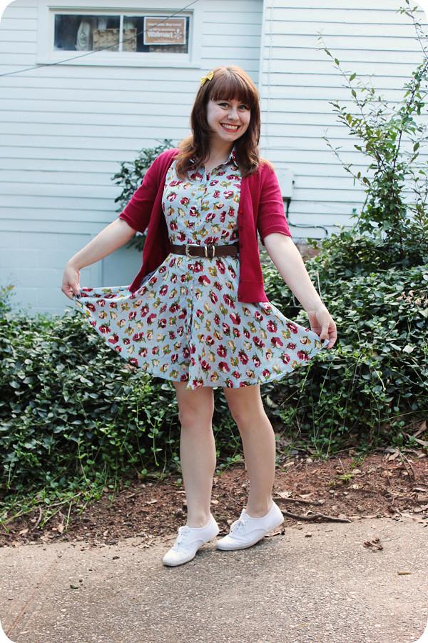 new modcloth dress keds amp a red cardigan petite panoply