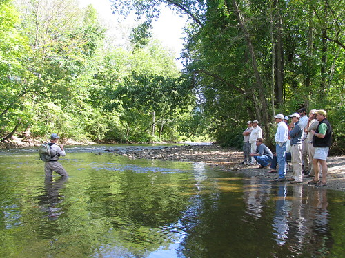 Photos george daniel teaching dynamic nymphing on the for Fly fishing team usa