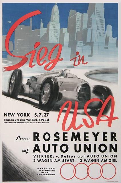 1937 Auto Union Typ C Poster