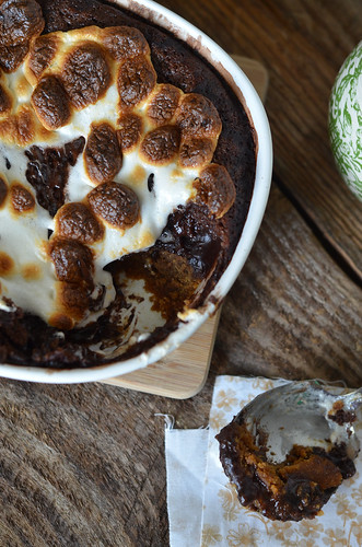 Ooey Gooey S'mores Pudding Cake