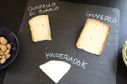 Cheese Slate with Quadrello di Bufalo, Ginepro Pecorino, and Kinderhook