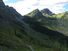 PCT.  Woody Pass from Rock Pass 9/2/12.  Plenty snow up there for water.