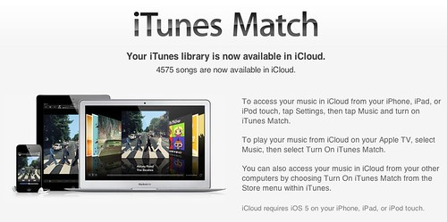 iTunes Match: 4575 Songs are now available in iCloud