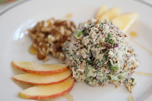 Smoked Trout Salad with Apples, Walnuts, and Honey