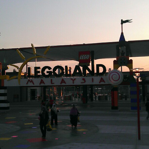 Sunset at legoland
