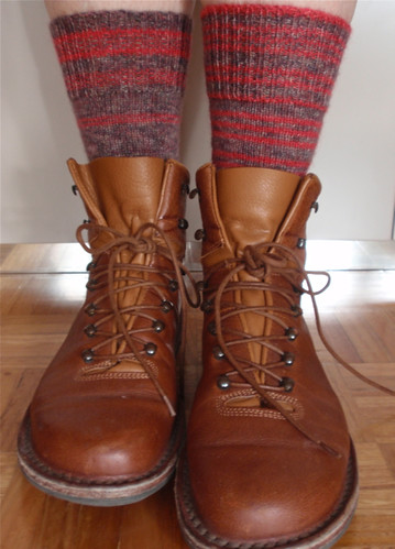 Mismatched socks and boots