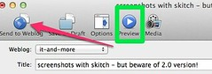 screenshots with skitch - but beware of 2.0 version!
