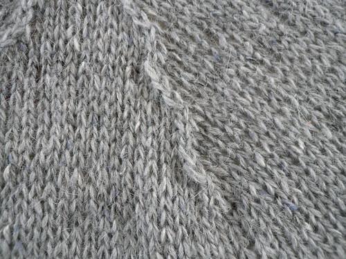 Grey Felted Tweed, detail