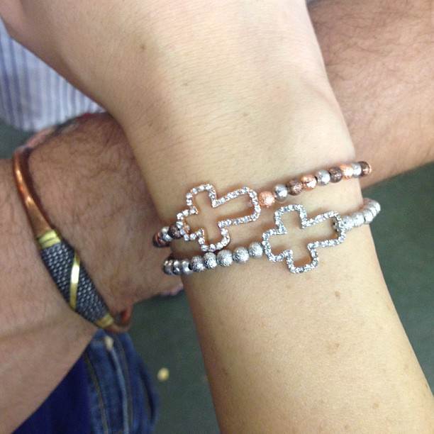 Mine and Brian's #armcandy  for our day at the #lacountyfair #balimantrajewelry