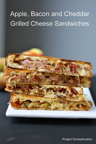 Apple bacon and Cheddar Grilled Cheese Sandwiches with Caramelized Onions | Project Domestication