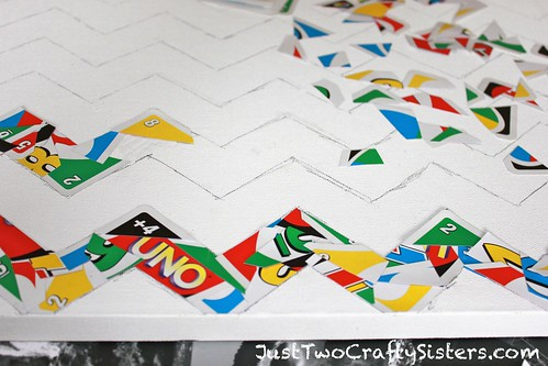 Uno Card Chevron Art Canvas