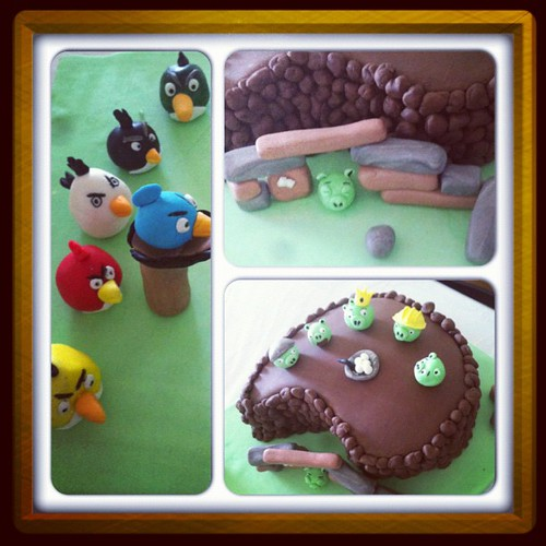 #Angry birds birthday cake by l'atelier de ronitte