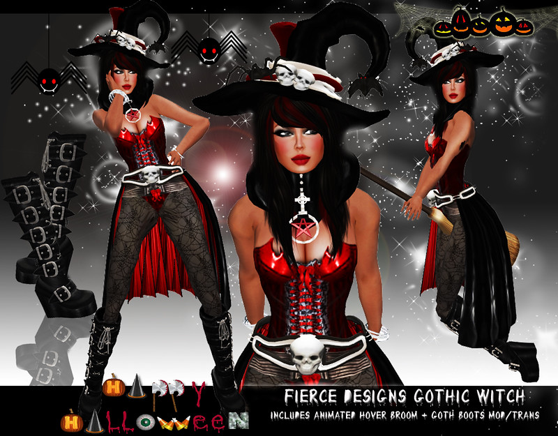 Gothic Witch Red by Fierce Designs