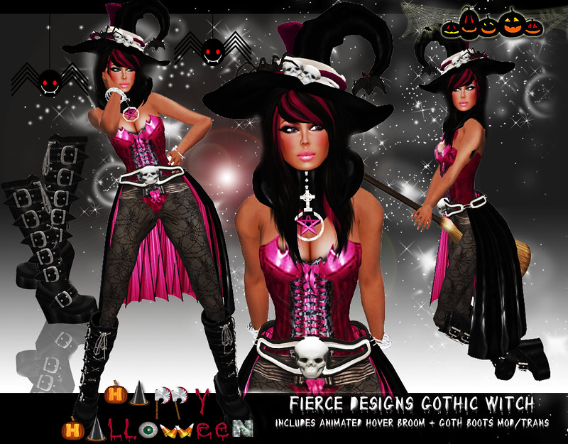 Gothic witch pink by Fierce Designs