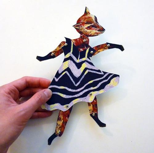 Paper Puppet Fox
