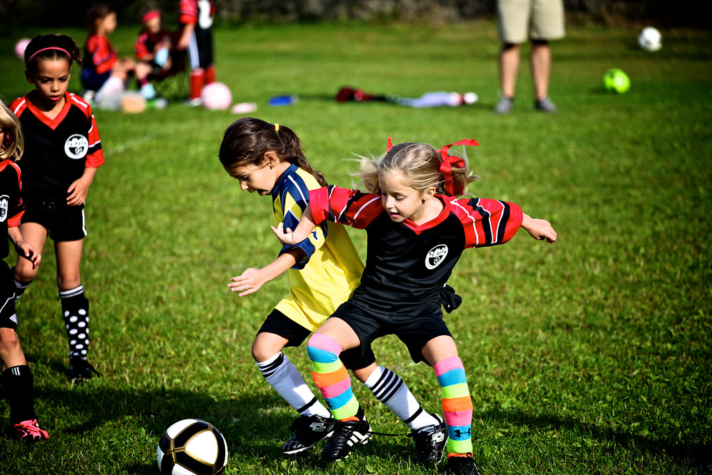 Gaining Position In Soccer Kindergarten Style