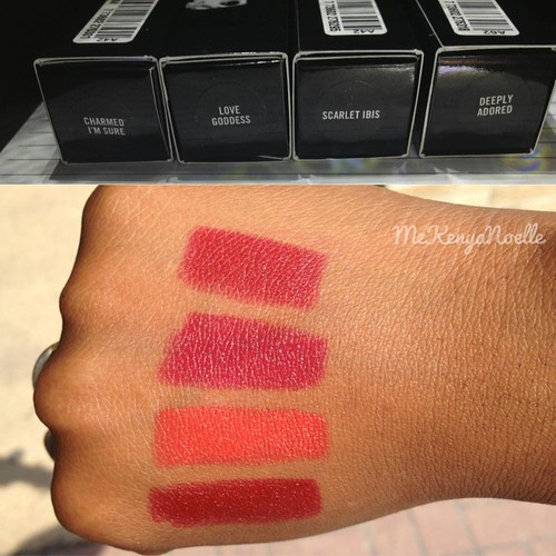 MAC Cosmetics Marilyn Monroe Lipsticks lipstick swatches swatch woc limited edition new 2012 Fall