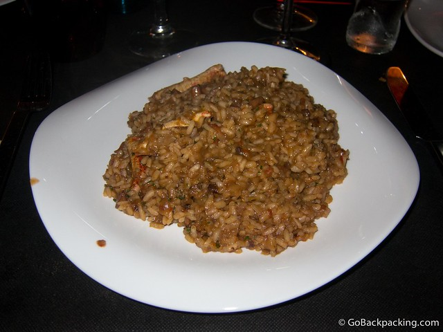 Rice with spiny spider crab
