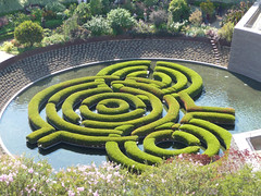 shrub, garden, grass, maze, labyrinth, yard, green, landscaping,