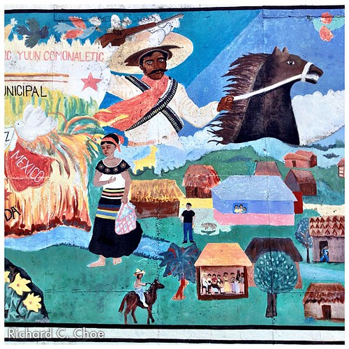 """Nella Fantasia 3,"" reproduction of the original Chiapas Mural by rchoephoto"