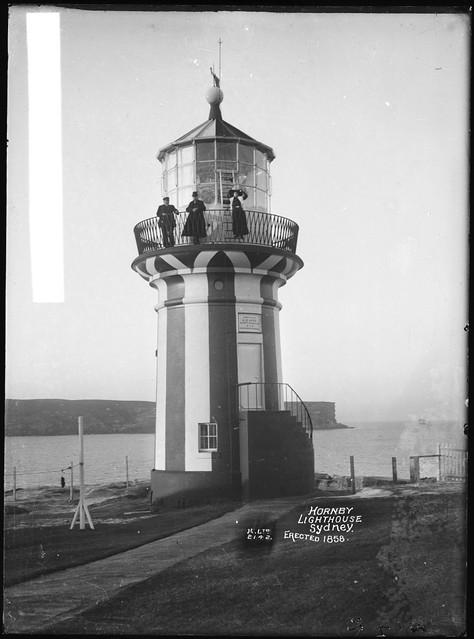 Hornby Lighthouse, Sydney, Erected 1858