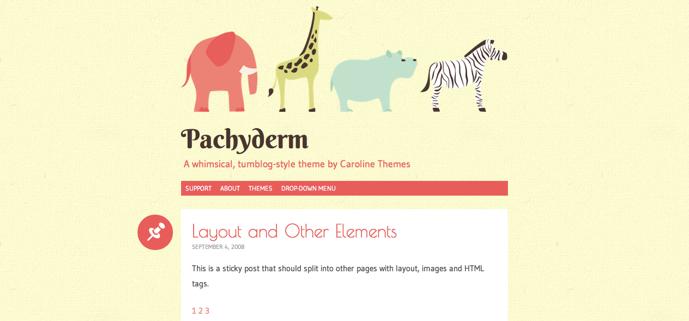 Giao diện Tumblr màu hồng dành cho WordPress