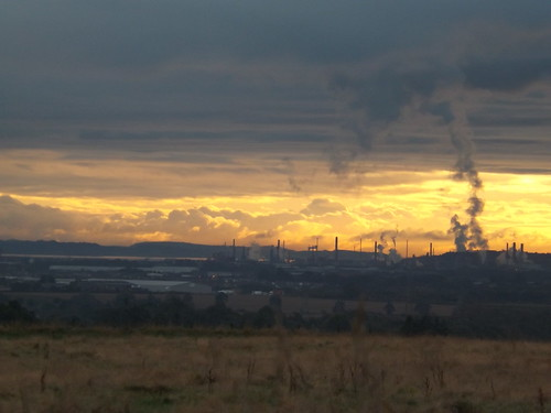 Sunrise over Grangemouth