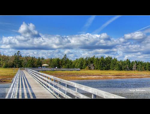 park new blue summer sky canada beach salt brunswick nb atlantic ciel national boardwalk marsh nouveau été marais plage kellys maritimes parcs atlantique kouchibouguac salé