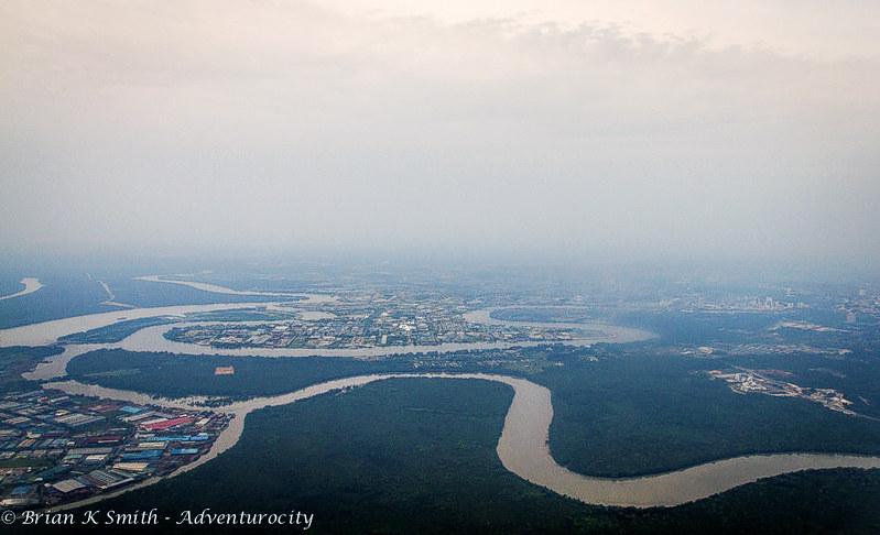 Aerial View of Kuching, Sarawak