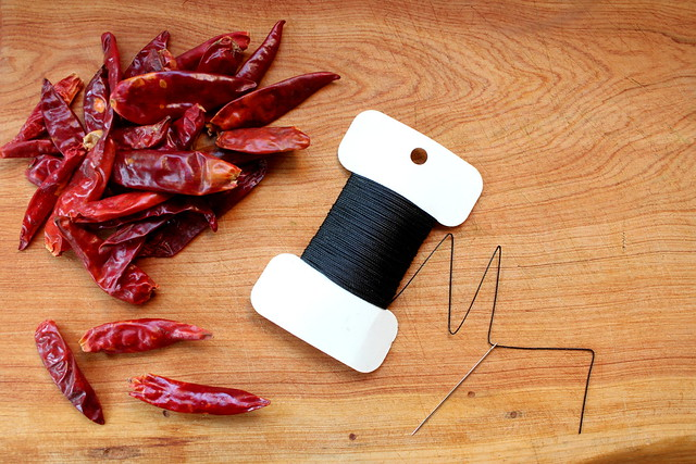 chile pepper garland DIY