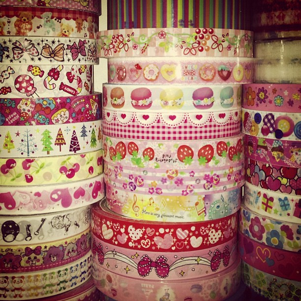 Some of my ever expanding #tape collection, I've just ordered more as #angoomart have 20% off #decotape