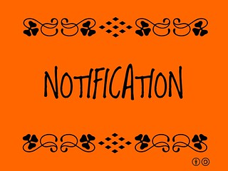 Buzzword Bingo: Notification = the act of giving notice