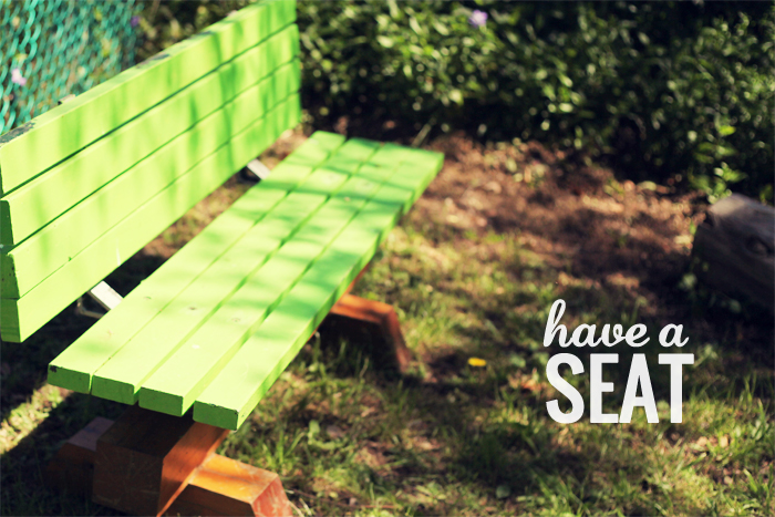 have a {lime green} seat