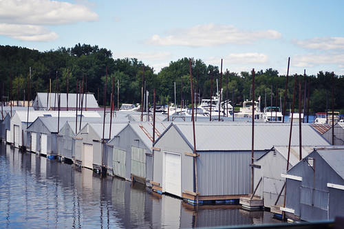 Boat Houses on the Mississippi River ~ Red Wing, MN