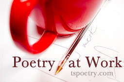 Poetry at Work-Red mug