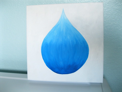 all done, in laundry room, water drop painting
