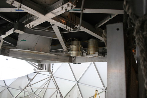 Instruments above the dome
