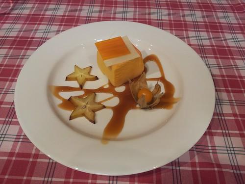 Burgos | El Fogón de Jesusón | Cubo de mandarina con toffe