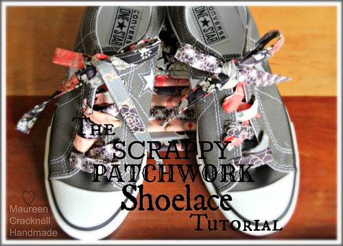 A Scrappy Patchwork Shoelace