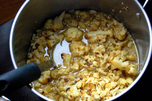 Cauliflower Soup in Progress