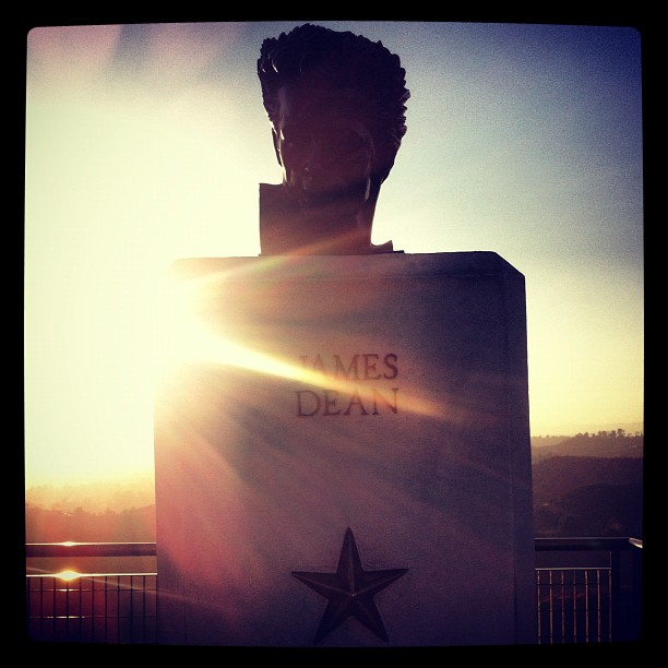 James Dean bust, Griffith Observatory, LA